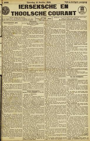Ierseksche en Thoolsche Courant 1919-10-11