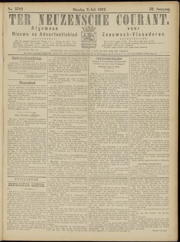 Ter Neuzensche Courant. Algemeen Nieuws- en Advertentieblad voor Zeeuwsch-Vlaanderen / Neuzensche Courant ... (idem) / (Algemeen) nieuws en advertentieblad voor Zeeuwsch-Vlaanderen 1912-07-02