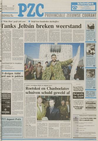 Provinciale Zeeuwse Courant 1993-10-05