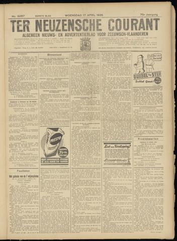 Ter Neuzensche Courant. Algemeen Nieuws- en Advertentieblad voor Zeeuwsch-Vlaanderen / Neuzensche Courant ... (idem) / (Algemeen) nieuws en advertentieblad voor Zeeuwsch-Vlaanderen 1935-04-17