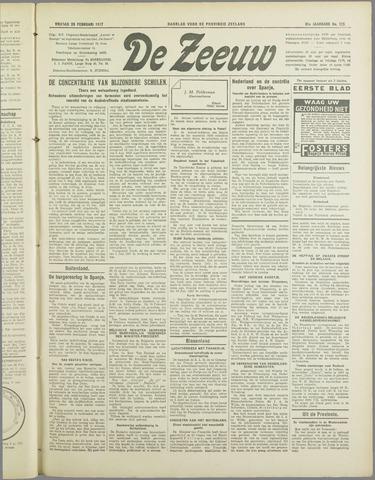 De Zeeuw. Christelijk-historisch nieuwsblad voor Zeeland 1937-02-26