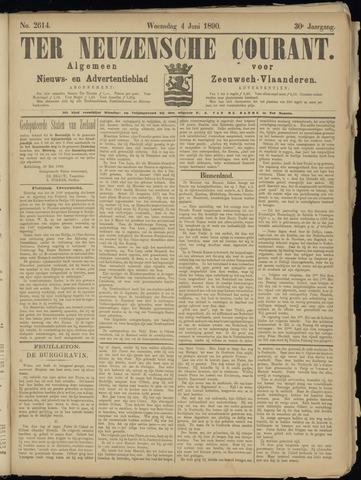 Ter Neuzensche Courant. Algemeen Nieuws- en Advertentieblad voor Zeeuwsch-Vlaanderen / Neuzensche Courant ... (idem) / (Algemeen) nieuws en advertentieblad voor Zeeuwsch-Vlaanderen 1890-06-04