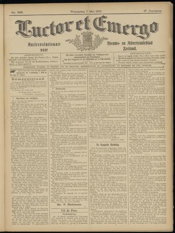Luctor et Emergo. Antirevolutionair nieuws- en advertentieblad voor Zeeland / Zeeuwsch-Vlaanderen. Orgaan ter verspreiding van de christelijke beginselen in Zeeuwsch-Vlaanderen 1913-05-07
