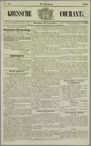 Goessche Courant 1859-09-19