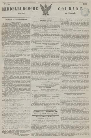 Middelburgsche Courant 1850-02-26