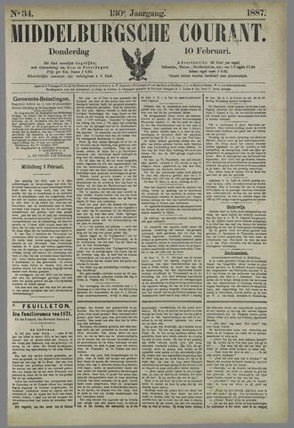 Middelburgsche Courant 1887-02-10