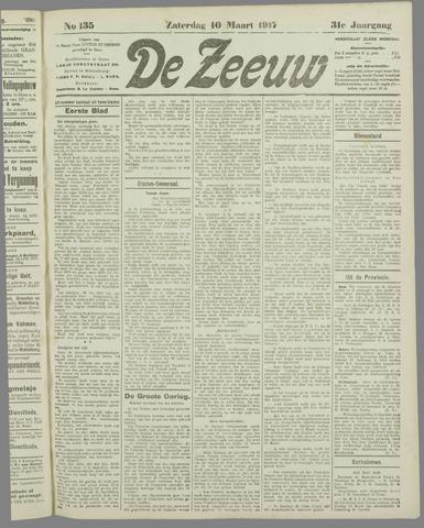 De Zeeuw. Christelijk-historisch nieuwsblad voor Zeeland 1917-03-10