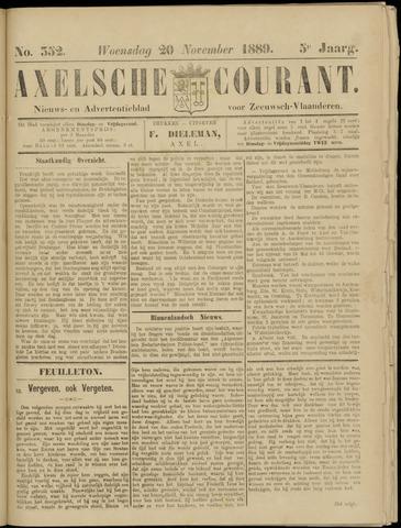 Axelsche Courant 1889-11-20