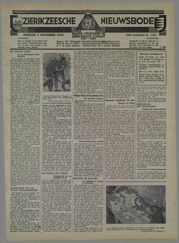 Zierikzeesche Nieuwsbode 1942-11-03