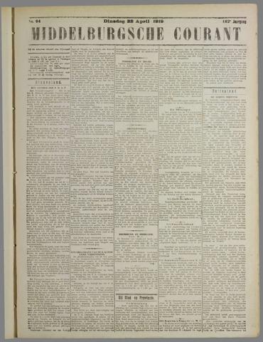 Middelburgsche Courant 1919-04-22