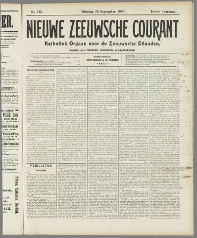 Nieuwe Zeeuwsche Courant 1905-09-26