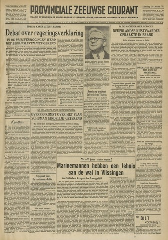 Provinciale Zeeuwse Courant 1951-03-20