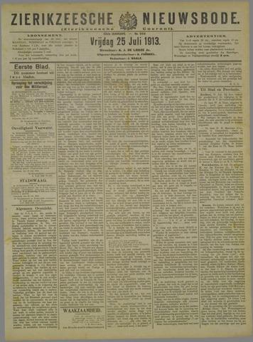 Zierikzeesche Nieuwsbode 1913-07-25
