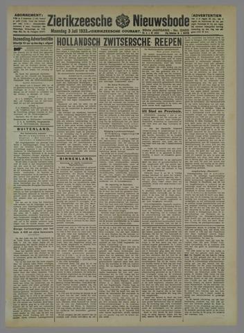 Zierikzeesche Nieuwsbode 1933-07-03
