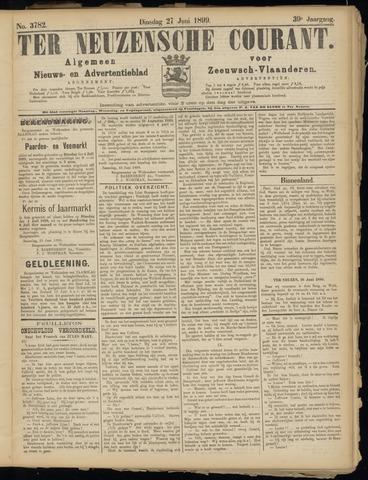 Ter Neuzensche Courant. Algemeen Nieuws- en Advertentieblad voor Zeeuwsch-Vlaanderen / Neuzensche Courant ... (idem) / (Algemeen) nieuws en advertentieblad voor Zeeuwsch-Vlaanderen 1899-06-27