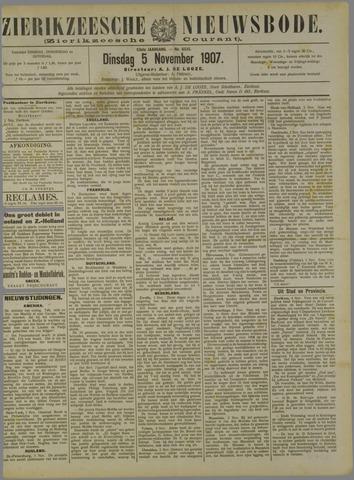 Zierikzeesche Nieuwsbode 1907-11-05
