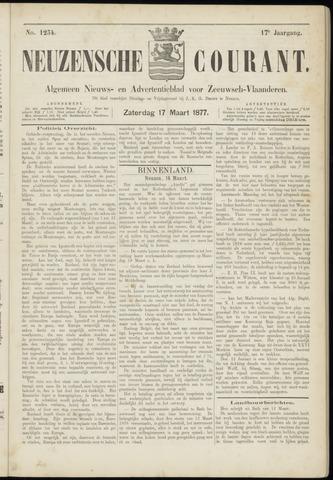 Ter Neuzensche Courant. Algemeen Nieuws- en Advertentieblad voor Zeeuwsch-Vlaanderen / Neuzensche Courant ... (idem) / (Algemeen) nieuws en advertentieblad voor Zeeuwsch-Vlaanderen 1877-03-17