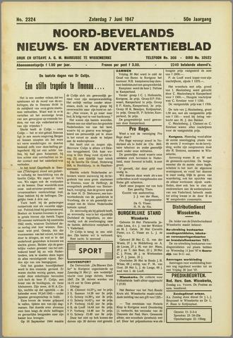 Noord-Bevelands Nieuws- en advertentieblad 1947-06-07