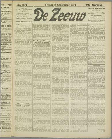 De Zeeuw. Christelijk-historisch nieuwsblad voor Zeeland 1916-09-08