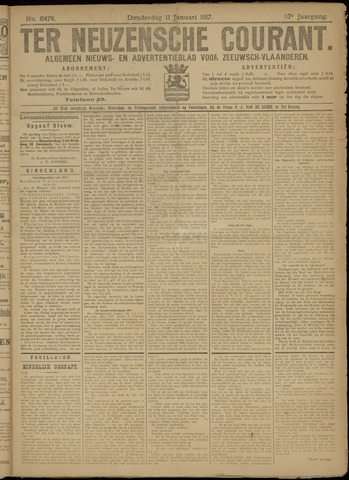 Ter Neuzensche Courant. Algemeen Nieuws- en Advertentieblad voor Zeeuwsch-Vlaanderen / Neuzensche Courant ... (idem) / (Algemeen) nieuws en advertentieblad voor Zeeuwsch-Vlaanderen 1917-01-11