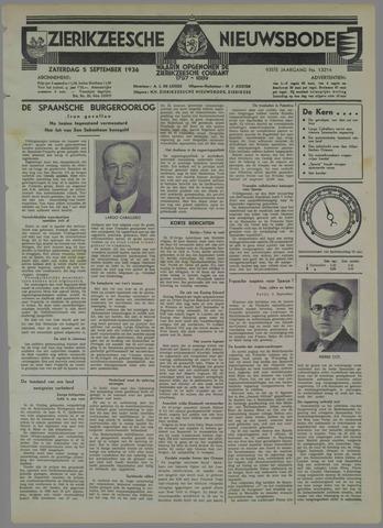 Zierikzeesche Nieuwsbode 1936-09-05