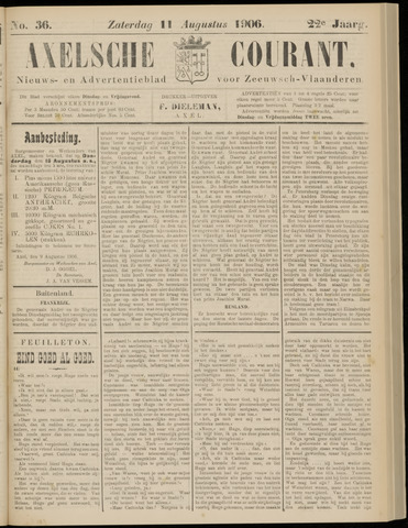 Axelsche Courant 1906-08-11