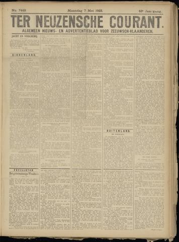 Ter Neuzensche Courant. Algemeen Nieuws- en Advertentieblad voor Zeeuwsch-Vlaanderen / Neuzensche Courant ... (idem) / (Algemeen) nieuws en advertentieblad voor Zeeuwsch-Vlaanderen 1923-05-07