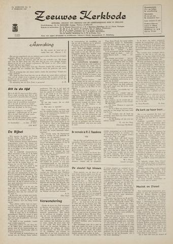 Zeeuwsche kerkbode, weekblad gewijd aan de belangen der gereformeerde kerken/ Zeeuwsch kerkblad 1969-02-27