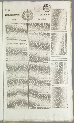 Zierikzeesche Courant 1824-04-09