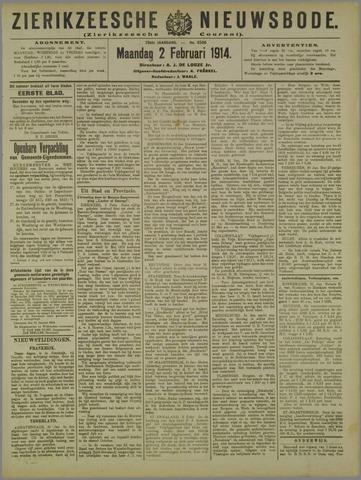 Zierikzeesche Nieuwsbode 1914-02-02
