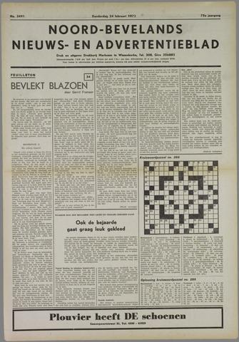 Noord-Bevelands Nieuws- en advertentieblad 1972-02-24
