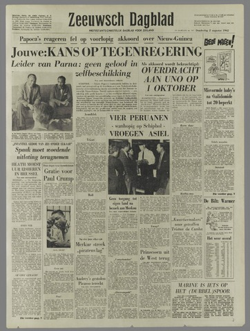 Zeeuwsch Dagblad 1962-08-02