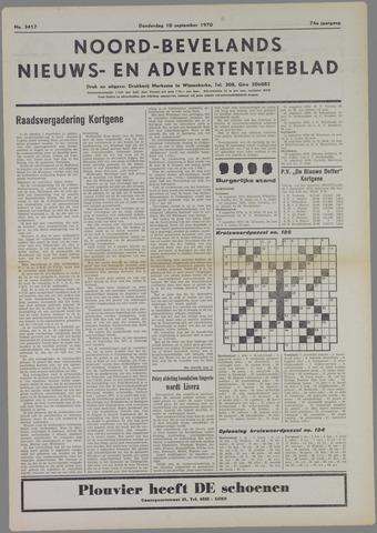 Noord-Bevelands Nieuws- en advertentieblad 1970-09-10