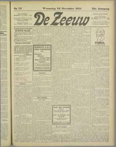 De Zeeuw. Christelijk-historisch nieuwsblad voor Zeeland 1924-12-24