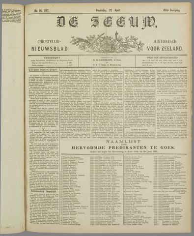 De Zeeuw. Christelijk-historisch nieuwsblad voor Zeeland 1897-04-22
