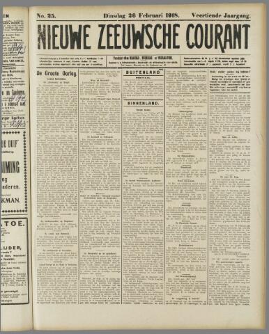 Nieuwe Zeeuwsche Courant 1918-02-26