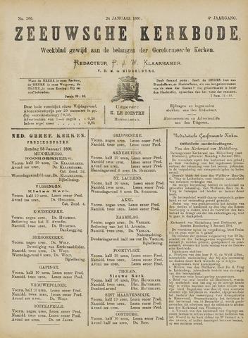 Zeeuwsche kerkbode, weekblad gewijd aan de belangen der gereformeerde kerken/ Zeeuwsch kerkblad 1891-01-24