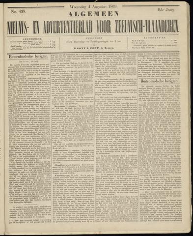 Ter Neuzensche Courant. Algemeen Nieuws- en Advertentieblad voor Zeeuwsch-Vlaanderen / Neuzensche Courant ... (idem) / (Algemeen) nieuws en advertentieblad voor Zeeuwsch-Vlaanderen 1869-08-04