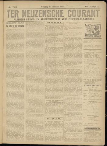 Ter Neuzensche Courant. Algemeen Nieuws- en Advertentieblad voor Zeeuwsch-Vlaanderen / Neuzensche Courant ... (idem) / (Algemeen) nieuws en advertentieblad voor Zeeuwsch-Vlaanderen 1924-01-11