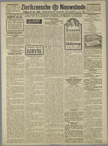 Zierikzeesche Nieuwsbode 1925-01-23