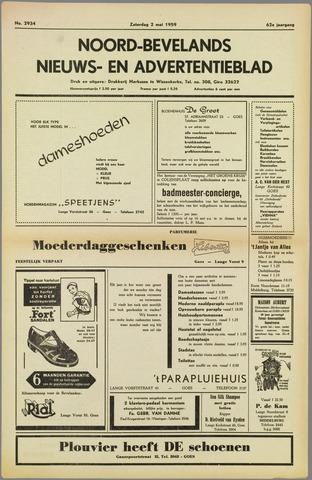 Noord-Bevelands Nieuws- en advertentieblad 1959-05-02