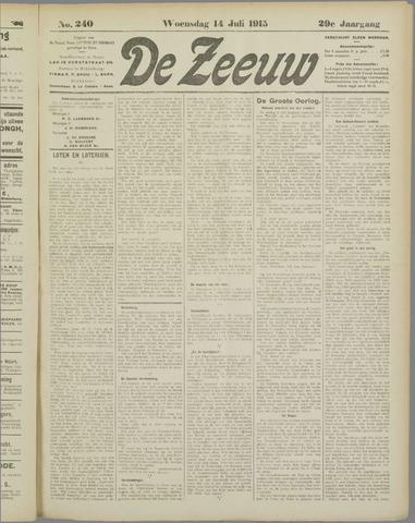 De Zeeuw. Christelijk-historisch nieuwsblad voor Zeeland 1915-07-14
