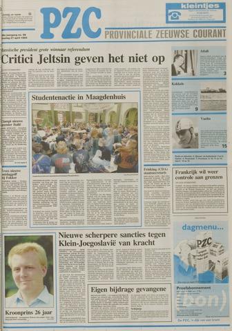 Provinciale Zeeuwse Courant 1993-04-27