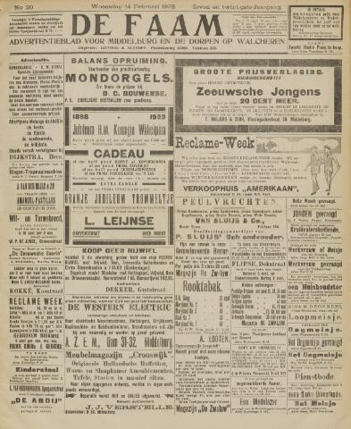 de Faam en de Faam/de Vlissinger 1923-02-14