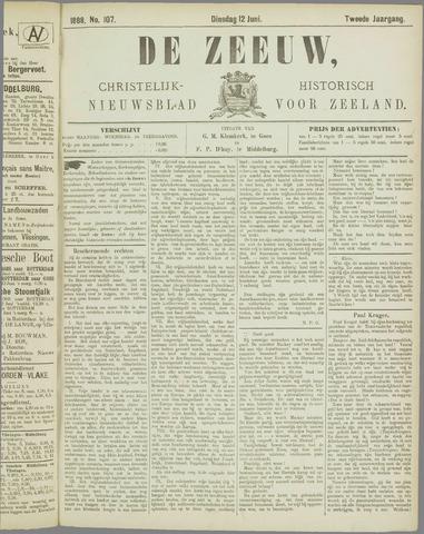 De Zeeuw. Christelijk-historisch nieuwsblad voor Zeeland 1888-06-12