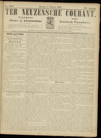 Ter Neuzensche Courant. Algemeen Nieuws- en Advertentieblad voor Zeeuwsch-Vlaanderen / Neuzensche Courant ... (idem) / (Algemeen) nieuws en advertentieblad voor Zeeuwsch-Vlaanderen 1896-02-04