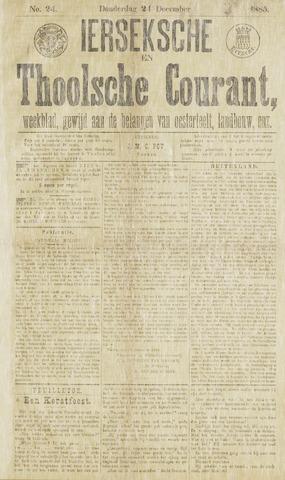Ierseksche en Thoolsche Courant 1885-12-24