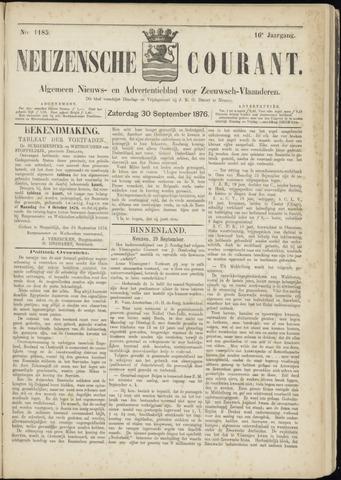 Ter Neuzensche Courant. Algemeen Nieuws- en Advertentieblad voor Zeeuwsch-Vlaanderen / Neuzensche Courant ... (idem) / (Algemeen) nieuws en advertentieblad voor Zeeuwsch-Vlaanderen 1876-09-30