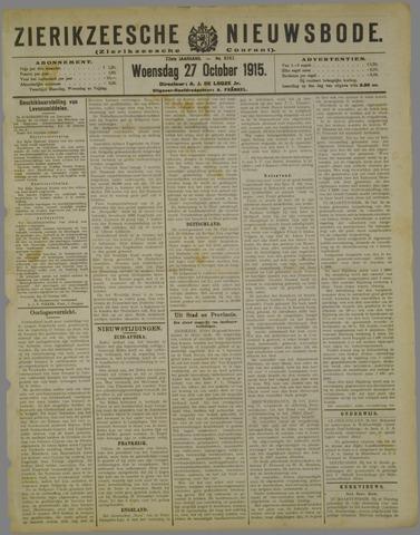 Zierikzeesche Nieuwsbode 1915-10-27