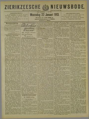 Zierikzeesche Nieuwsbode 1913-01-22
